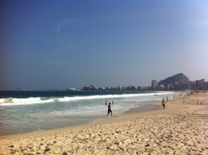 Next we visited Copacabana Beach, which was gorgeous.