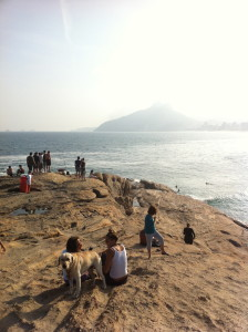 Down the road a ways is Ipanema Beach, at which we all journeyed out a jetty to take it all in.